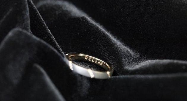 时光不负情深,刻字小清新磨砂戒指