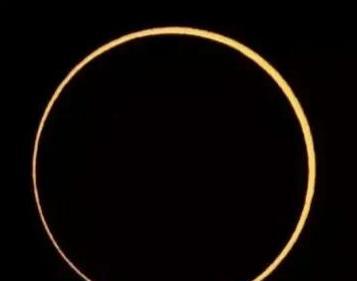 今天金环日食即言以记